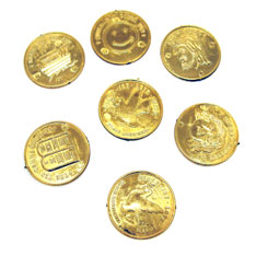 Christian gold coins