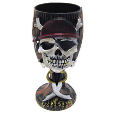 wood pirate goblet