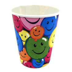 smiley face birthday party cup