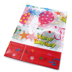 happy birthday party tablecover