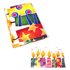 happy birthday candle tablecover