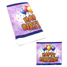 happy birthday balloon tablecover