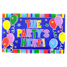 party's here sign