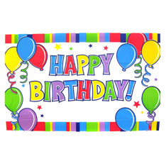 """Giant """"Happy Birthday"""" sign. 6 1/2 feet wide by 4 feet tall."""