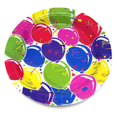party balloon plate