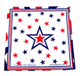 star patriotic napkins