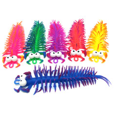 rubber stretchy centipedes