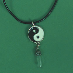 crystal yin yang necklace