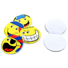 smiley face memo pad