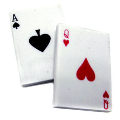 playing cards erasers