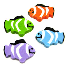 clown fish erasers