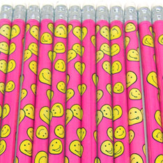 smiley face pencil